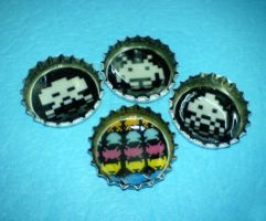 space invaders cap magnets by strictlyhandmade
