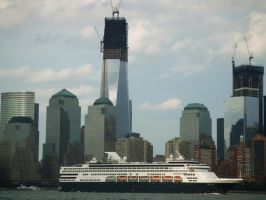 Holland America Line Veendam cruise ship in NYC by PaulRokicki