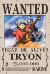 One Piece wanted poster - Tryon by ericcartman1