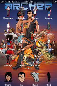 Archer iPhone 3G theme by pethompson