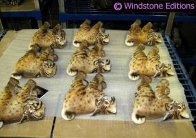 shelf of Windstone Bobcats by Reptangle