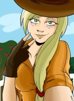Applejack Selfshot (To Facebook) by frankaraya