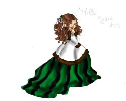 Camille in green dress by Biby95