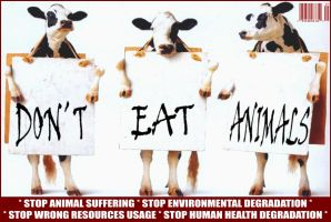 Stop Eating Animals by poderiu