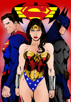DC Trinity - Superman, Wonder Woman and Batman by portfan