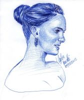 Glamour Natalie Portman BALLPOINT PEN by AngelinaBenedetti
