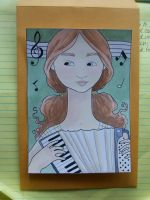 Little Accordian Girl by lilspoon