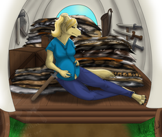 Expecting on the Trail - Commission by Silverfang-Alchemist