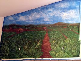 Fresco in progress by amoxes