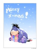 Eeyore Christmas card by venthor
