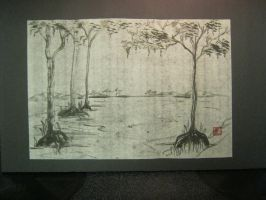 Black and White Swamp by Iolii