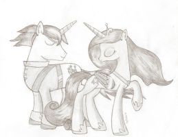 Princess Cadence and Shining Armor by RockerRD