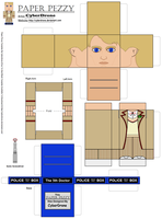 Paper Pezzy- The 5th Doctor by CyberDrone