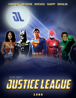 JUSTICE LEAGUE - 1986 Movie Poster by MrSteiners