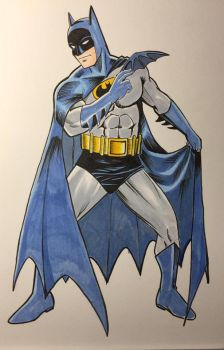 Batman in color by JimMcClain