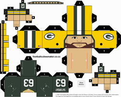 Jeff Saturday Packers Cubee by etchings13