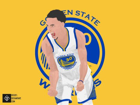 Steph Curry Vector by rexze1