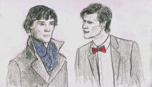 Holmes and the Doctor by VesperBond