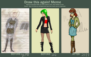 Draw this Again Meme (second redraw) by MadMaudlin2016