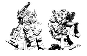 Transformers G1 Good Vs Bad Inks by EryckWebbGraphics