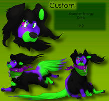 Custom Monster Tempo Dog Adopt - Version 2 by Feralx1