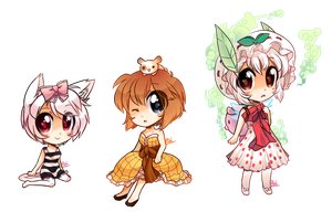 Chibi girl set by pekou