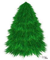Christmas Tree stock illustration (png) by zemimsky