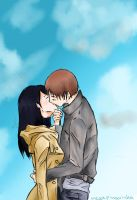 Eren and Mikasa: kiss by MegaPingvinka