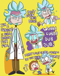 Rick and Morty (Mostly Rick tho) by ecokitty
