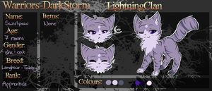 Warriors - DarkStorm: Swirlpaw App by Cirorin