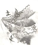 Japanese Style Butterfly Idea by Tattooed-Honey