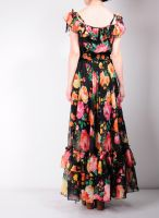 Black Floral Maxi Dress 7 by yystudio