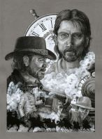 3:10 to Yuma Montage Poster by weremagnus