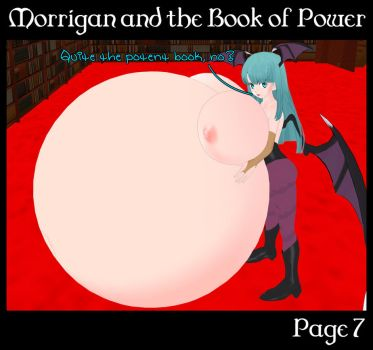 Morrigan and the Book of Power 7 (Commission) by Morphy-McMorpherson