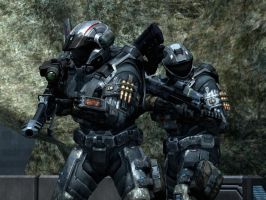 Halo Reach: good friends by purpledragon104
