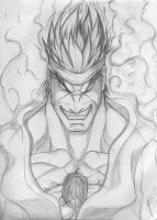 Evil Ryu Sketch by LuisLarm