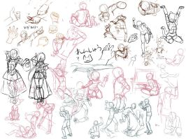 Pose+Hand-Scribbling by gimei