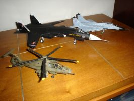 Comparison of Model Aircraft by Archanubis