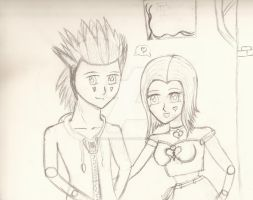 Axel and Me -WIP- by StarRacerEva