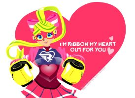 ARMS Ribbon Girl Valentine's Day Card by RothSothy