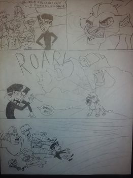 The Roar: front cover (with story segment) by jebens1