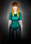 character design - unnamed woman - II by Drandler