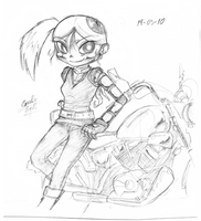 Sketch - biker Jinmay by kancle