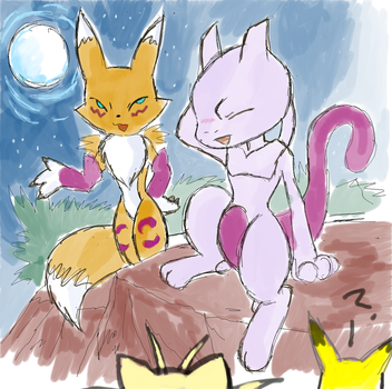 Renamon visits Mt.Quena by Renatwo