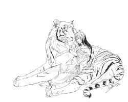 White tiger by KnotBerry