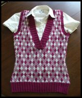 Deep V Argyle Vest by radioactive-orchid