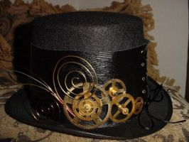 Steampunk top hat. by Created-by-Wendy