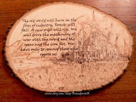 Lord of the Rings - Wood burning by brandojones