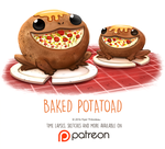 Day 1420. Baked Potatoad by Cryptid-Creations
