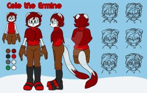 Cele the Ermine - Ref Sheet by SallyVinter